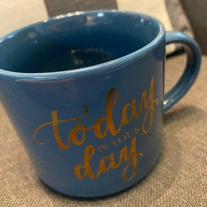 TODAY IS YOUR DAY BLUE GOLD MUG TARGET THRESHOLD